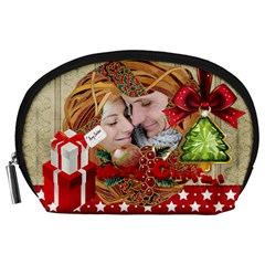 Xmas By Debe Lee   Accessory Pouch (large)   4a11rg7s0vh0   Www Artscow Com Front