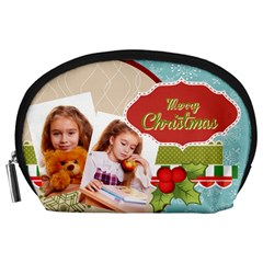 Xmas By Debe Lee   Accessory Pouch (large)   Qgfmsv09sfml   Www Artscow Com Front