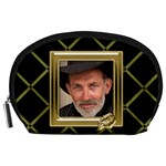 Black and Gold AccessoryPouch (large) - Accessory Pouch (Large)