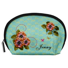 Pouch (l) : Flowers By Jennyl   Accessory Pouch (large)   Qj9dpu56kfya   Www Artscow Com Front