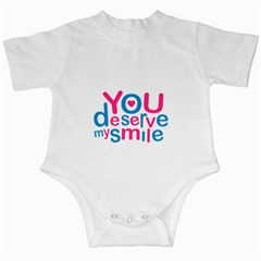 You Deserve My Smile Typographic Design Love Quote Infant Bodysuit by dflcprints
