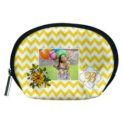 Pouch (m): Yellow Chevron By Jennyl   Accessory Pouch (medium)   R1k7y6qqy32e   Www Artscow Com Front