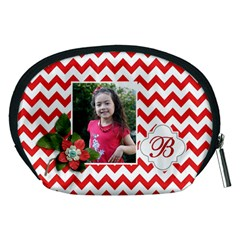 Pouch (m): Red Chevron By Jennyl   Accessory Pouch (medium)   Qe56ba090b9e   Www Artscow Com Back
