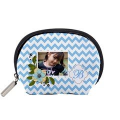 Pouch (s): Blue Chevron By Jennyl   Accessory Pouch (small)   Ld3lmd4ggmwn   Www Artscow Com Front