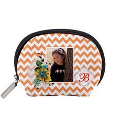 Pouch (s): Orange Chevron By Jennyl   Accessory Pouch (small)   Twhe0gtvxjrf   Www Artscow Com Front