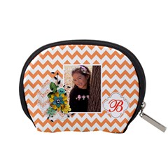 Pouch (s): Orange Chevron By Jennyl   Accessory Pouch (small)   Twhe0gtvxjrf   Www Artscow Com Back