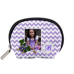 Pouch (s): Violet Chevron By Jennyl   Accessory Pouch (small)   K69vnb9tfwzu   Www Artscow Com Front