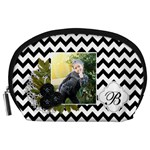 Pouch (L) : Black Chevron - Accessory Pouch (Large)