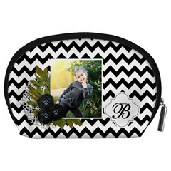 Pouch (l) : Black Chevron By Jennyl   Accessory Pouch (large)   Aie8g6aiy5mq   Www Artscow Com Back