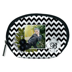 Pouch (m): Black Chevron By Jennyl   Accessory Pouch (medium)   Wiw2cyp4hvfl   Www Artscow Com Front