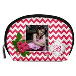 Pouch (L) : Pink Chevron - Accessory Pouch (Large)