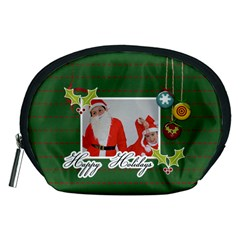 Pouch (m): Happy Holidays By Jennyl   Accessory Pouch (medium)   Xijolb8evko4   Www Artscow Com Front