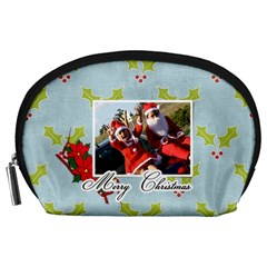 Pouch (l) : Christmas By Jennyl   Accessory Pouch (large)   Wvfmwr0q0yb4   Www Artscow Com Front