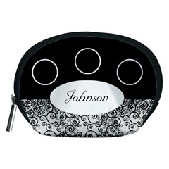 Classic Black And White Accessory Pouch (medium) By Deborah   Accessory Pouch (medium)   Q8ql4qnga1ja   Www Artscow Com Front