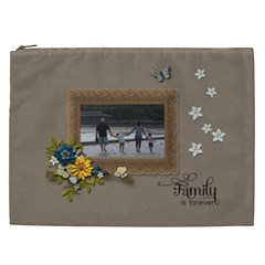Cosmetic Bag (xxl)   Family Is Forever By Jennyl   Cosmetic Bag (xxl)   Xle3qj1t8cey   Www Artscow Com Front