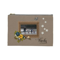 Cosmetic Bag (large)   Family Is Forever By Jennyl   Cosmetic Bag (large)   N9kdr6kk6254   Www Artscow Com Front