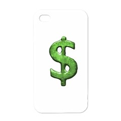 Grunge Style Money Sign Symbol Illustration Apple Iphone 4 Case (white) by dflcprints