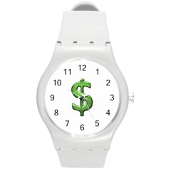 Grunge Style Money Sign Symbol Illustration Plastic Sport Watch (medium) by dflcprints