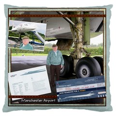 Concorde Cushion By Catvinnat   Large Cushion Case (two Sides)   4d1og6j5mpr8   Www Artscow Com Front