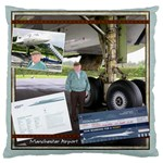 concorde cushion - Large Cushion Case (Two Sides)
