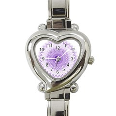 Mandala Heart Italian Charm Watch  by Siebenhuehner