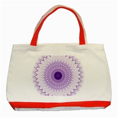 Mandala Classic Tote Bag (red) by Siebenhuehner
