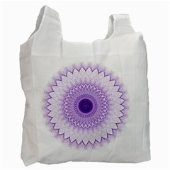 Mandala White Reusable Bag (one Side)