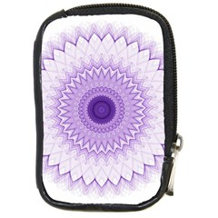 Mandala Compact Camera Leather Case by Siebenhuehner