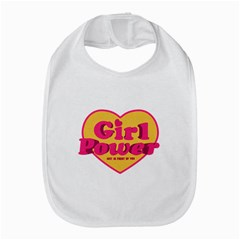 Girl Power Heart Shaped Typographic Design Quote Bib by dflcprints