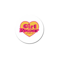 Girl Power Heart Shaped Typographic Design Quote Golf Ball Marker 4 Pack by dflcprints