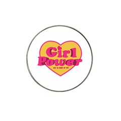 Girl Power Heart Shaped Typographic Design Quote Golf Ball Marker 10 Pack (for Hat Clip) by dflcprints