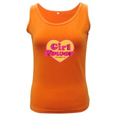 Girl Power Heart Shaped Typographic Design Quote Women s Tank Top (dark Colored) by dflcprints