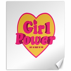 Girl Power Heart Shaped Typographic Design Quote Canvas 20  X 24  (unframed) by dflcprints