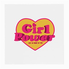 Girl Power Heart Shaped Typographic Design Quote Glasses Cloth (medium) by dflcprints