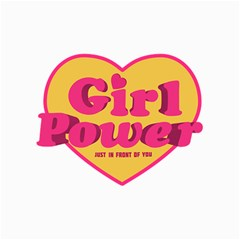 Girl Power Heart Shaped Typographic Design Quote Canvas 11  X 14  (unframed) by dflcprints