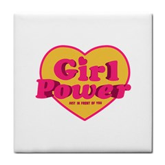 Girl Power Heart Shaped Typographic Design Quote Face Towel by dflcprints