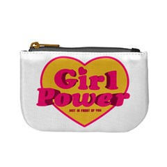 Girl Power Heart Shaped Typographic Design Quote Coin Change Purse by dflcprints