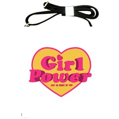Girl Power Heart Shaped Typographic Design Quote Shoulder Sling Bag by dflcprints