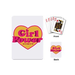Girl Power Heart Shaped Typographic Design Quote Playing Cards (mini) by dflcprints