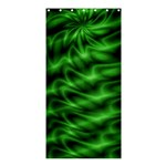 Green Swirl Shower Curtain 36  x 72  (Stall)