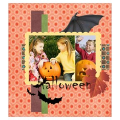 Halloween By Helloween   Drawstring Pouch (large)   W7nd32r6ou6b   Www Artscow Com Front