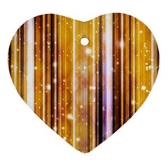 Luxury Party Dreams Futuristic Abstract Design Heart Ornament by dflcprints