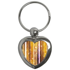 Luxury Party Dreams Futuristic Abstract Design Key Chain (heart) by dflcprints