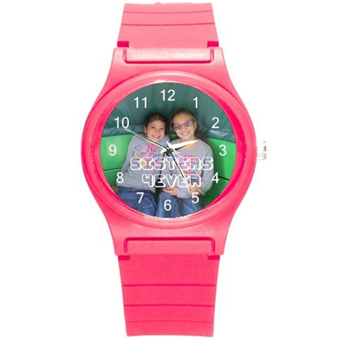 Watch2 By Esther    Round Plastic Sport Watch (s)   Szy7rrdy76a6   Www Artscow Com Front