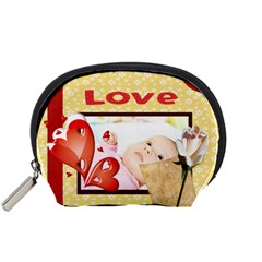 Love By Wood Johnson   Accessory Pouch (small)   N7lswkza4lb1   Www Artscow Com Front
