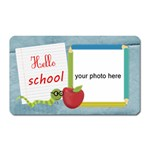 Hello School boy magnet - Magnet (Rectangular)