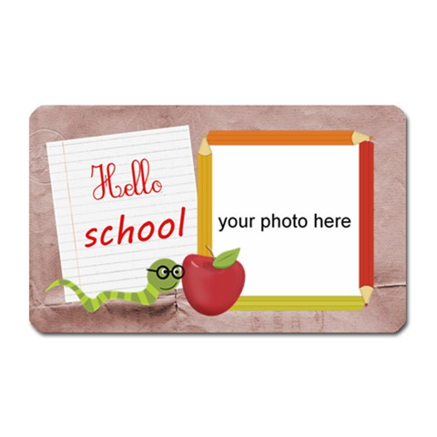 Hello School Girl Magnet By Zornitza   Magnet (rectangular)   0sfcl6vaxdqi   Www Artscow Com Front