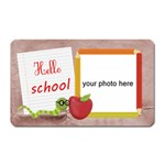 Hello School girl magnet - Magnet (Rectangular)