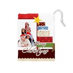 merry christmas - Drawstring Pouch (Medium)