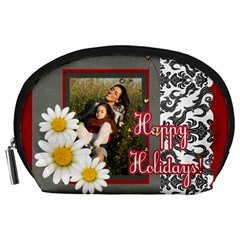 Happy Holiday By Betty   Accessory Pouch (large)   H3xaj9vm8sqn   Www Artscow Com Front